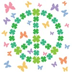 Shamrock Peace n Butterflies