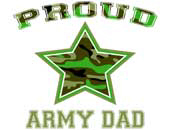 Proud Army Dad > Military T-Shirts & Gifts