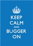 Churchill Keep Calm and Bugger On Alice Blue
