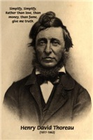 Transcendental Philosophy: Thoreau simplify