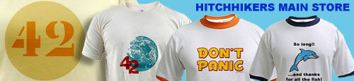 HITCHHIKERS GUIDE T-SHIRTS-BEST IN THE GALAXY