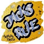 Jacks Rule! (Blue Graffiti Lettering)