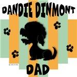 Dandie Dinmont Terrier Dad - Green/Orange Stripe