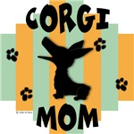 Welsh Corgi Mom - Green/Orange Stripe