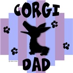 Welsh Corgi Dad - Blue/Purple Stripe