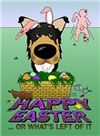 Tri-Colored Smooth Collie - Happy Easter