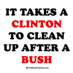 It takes a Clinton to clean up