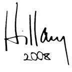 Hillary autograph