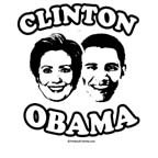 Clinto + Obama