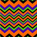 Halloween Colors Chevron