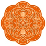 Orange Asian Design