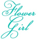 Fancy Font Flower Girl on T-shirts and Gifts