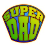 SuperDad Badge Design on Tees and Gifts