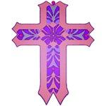 Beautiful Purple and Pink Cross