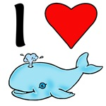 I Heart Whales I Love Whales Products