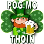 Pog Mo Thoin T-shirt with Leprechaun