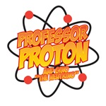 Professor Proton and Gino the Neutrino