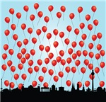 Red Ballons (2-sided)