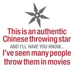This is an authentic Chinese throwing star