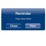 Reminder with customizable text