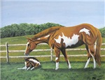 Paint Mare & Foal