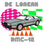 Retro 1980's DeLorean Design