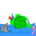 Cartoon Illustrated Turtle