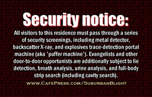 No Soliciting *Security Screen*