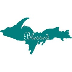 Blessed On Teal U.P.