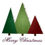 Three Trees Merry Christmas AA