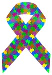Puzzle (autism) Awareness Ribbon