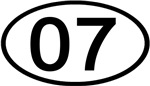 Number 07 Oval (Black)