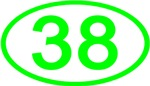 Number 38 Oval (Green)