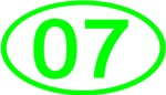 Number 07 Oval (Green)