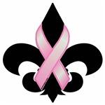 Pink Ribbon Fleur-de-lis