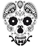 Skull folowers and ornaments