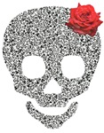 Skull and a rose