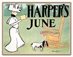 VINTAGE DOG ART: HARPER'S JUNE