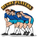 Rugby Players with Text