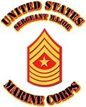 USMC - Sergeant Major with Text