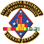 USMC - 1st Marine Regmt w SVC Ribbons