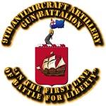 COA - 9th Antiaircraft Artillery Gun Battalion