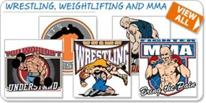 Wrestling, Weightlifting and MMA Shirts and Gifts