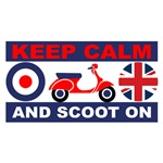 Keep Calm and Scoot On Union Jack