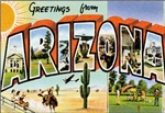 Arizona Vintage Postcard