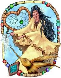 Walela Cherokee Dreamcatcher Fantasy Art Gifts