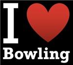 I Love Bowling Dark Tee