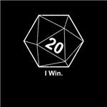 Sheldon Cooper I Win D20 Dice