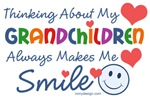Thinking about my grandchildren always makes me smile. T-Shirt & Gifts