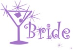 Purple Curly Martini Bride